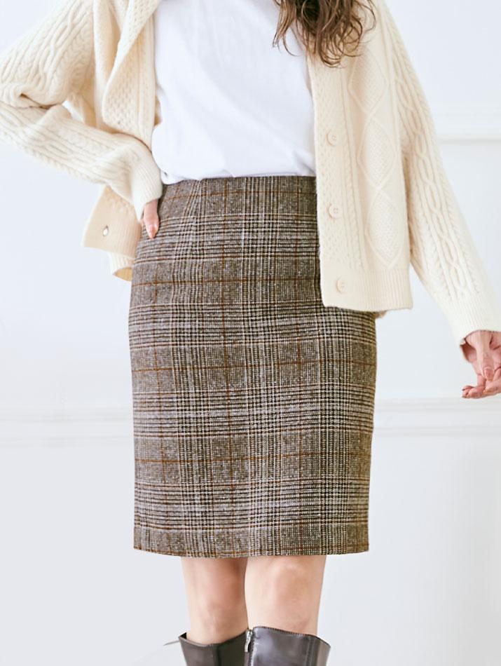 スカート《ミディアム丈ベーシックタイトスカート 全11色 3サイズ》