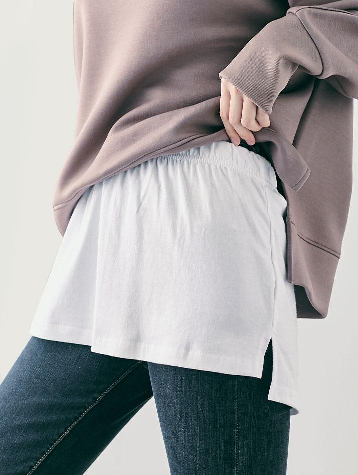 付け裾《レイヤード風 スリットデザイン付け裾 全3色 2サイズ》