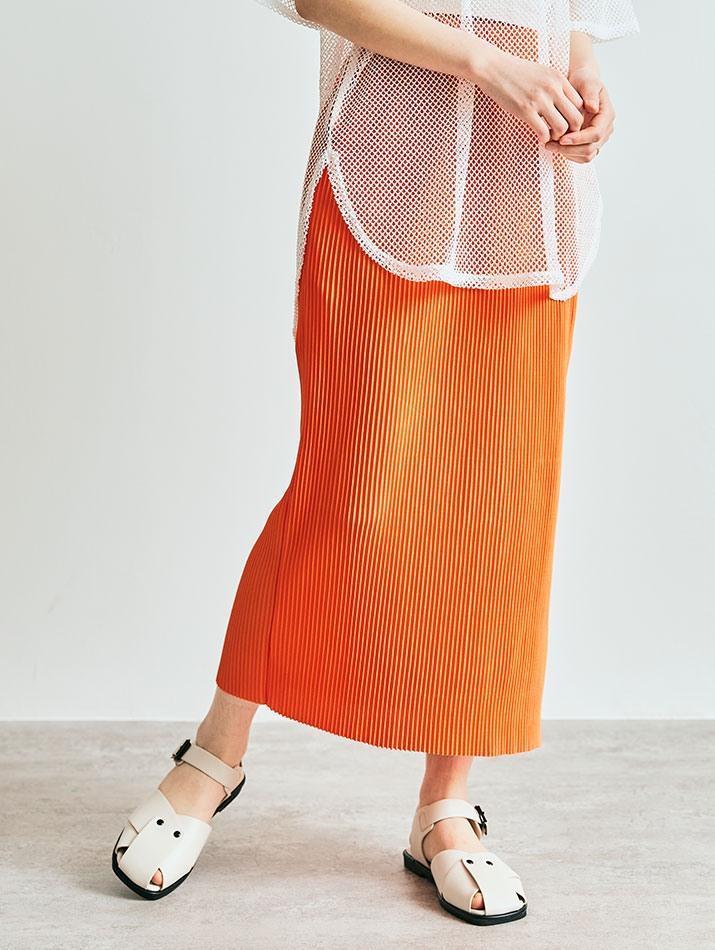 スカート《アコーディオンプリーツナロースカート 全8色》