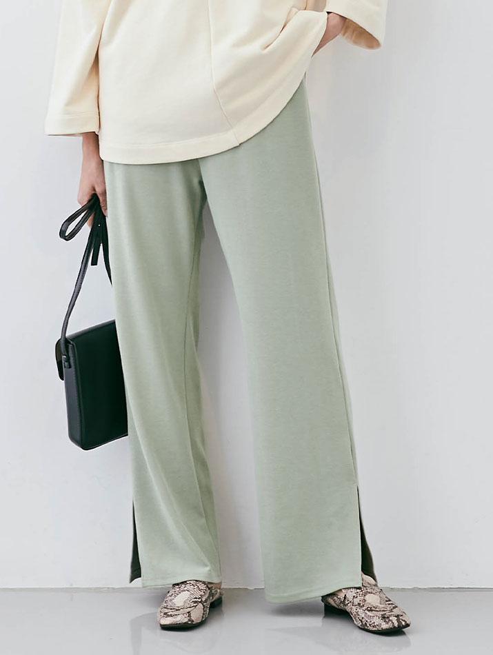 パンツ《リラクシースリットワイドパンツ 全6色》
