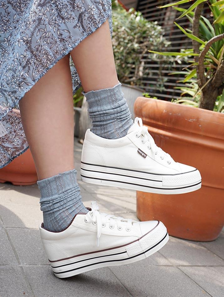 靴下《全6色 模様編みソックス》