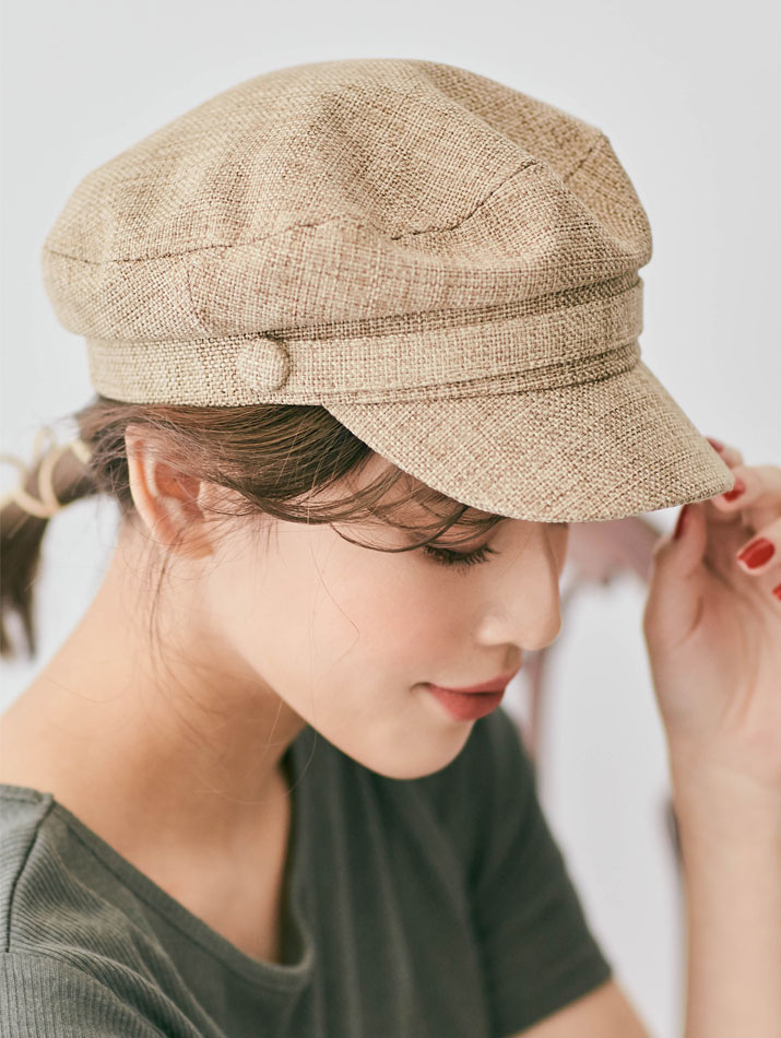 帽子《リネンライクキャスケット 全5色》