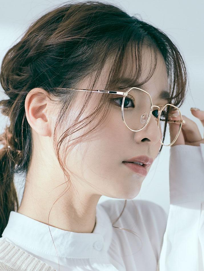 眼鏡《メタルフレームブルーライトカットメガネ 全5色》